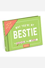 Knock Knock Why You're My Bestie Fill in the Love Book Fill-in-the-Blank Gift Journal, 4.5 x 3.25-inches Diary