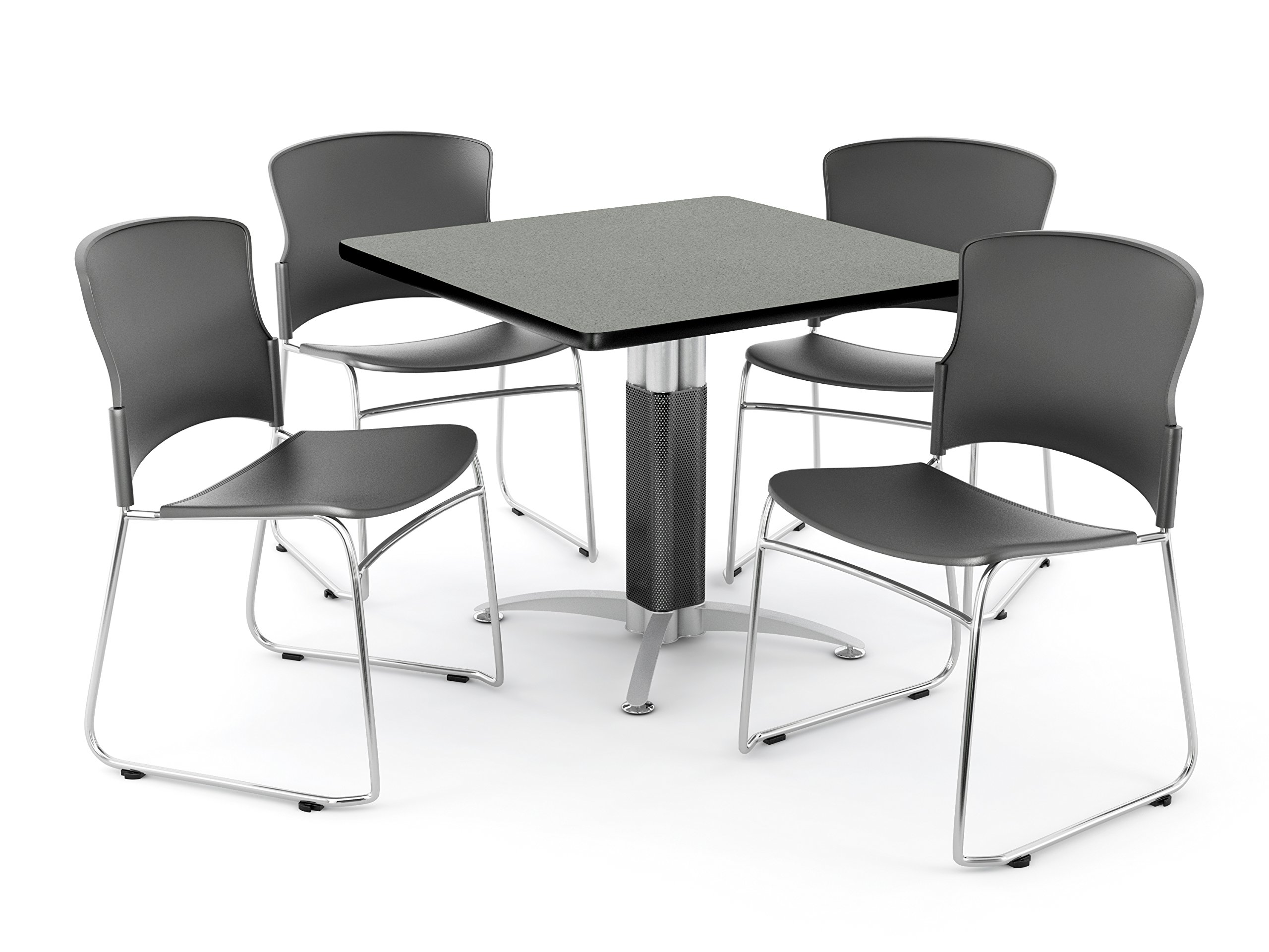 OFM PKG-BRK-030-0005 Breakroom Package, Gray Nebula Table/Gray Chair by OFM