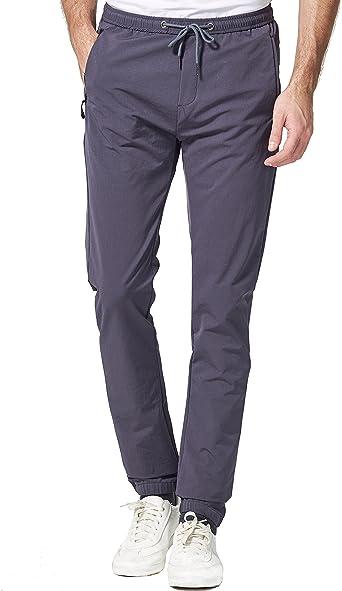 SSLR Pantalones Chandal Casuales para Hombre Regular Fit: Amazon ...