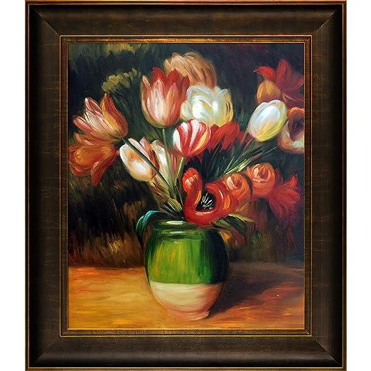 Amazonde Overstockart Renoir Tulpen In Einer Vase Malen Mit Veine