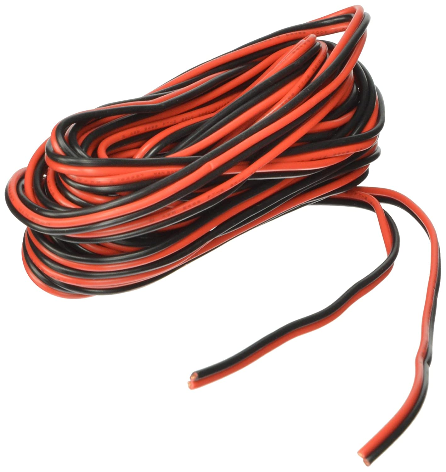 amazon com roadpro 25' hardwire replacement 2 wire 22 gauge dc wiring colors  amazon com