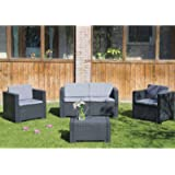 Bica Colorado 9017.4 Set 4 salottini 119 x 64 x 59 cm, anthracite, 279 x 155 x 64 cm