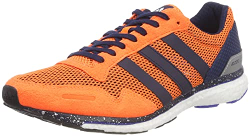 brand new 0fa41 14204 adidas Mens Adizero Adios Competition Running Shoes, Orange  (HireorConavyHirblu)