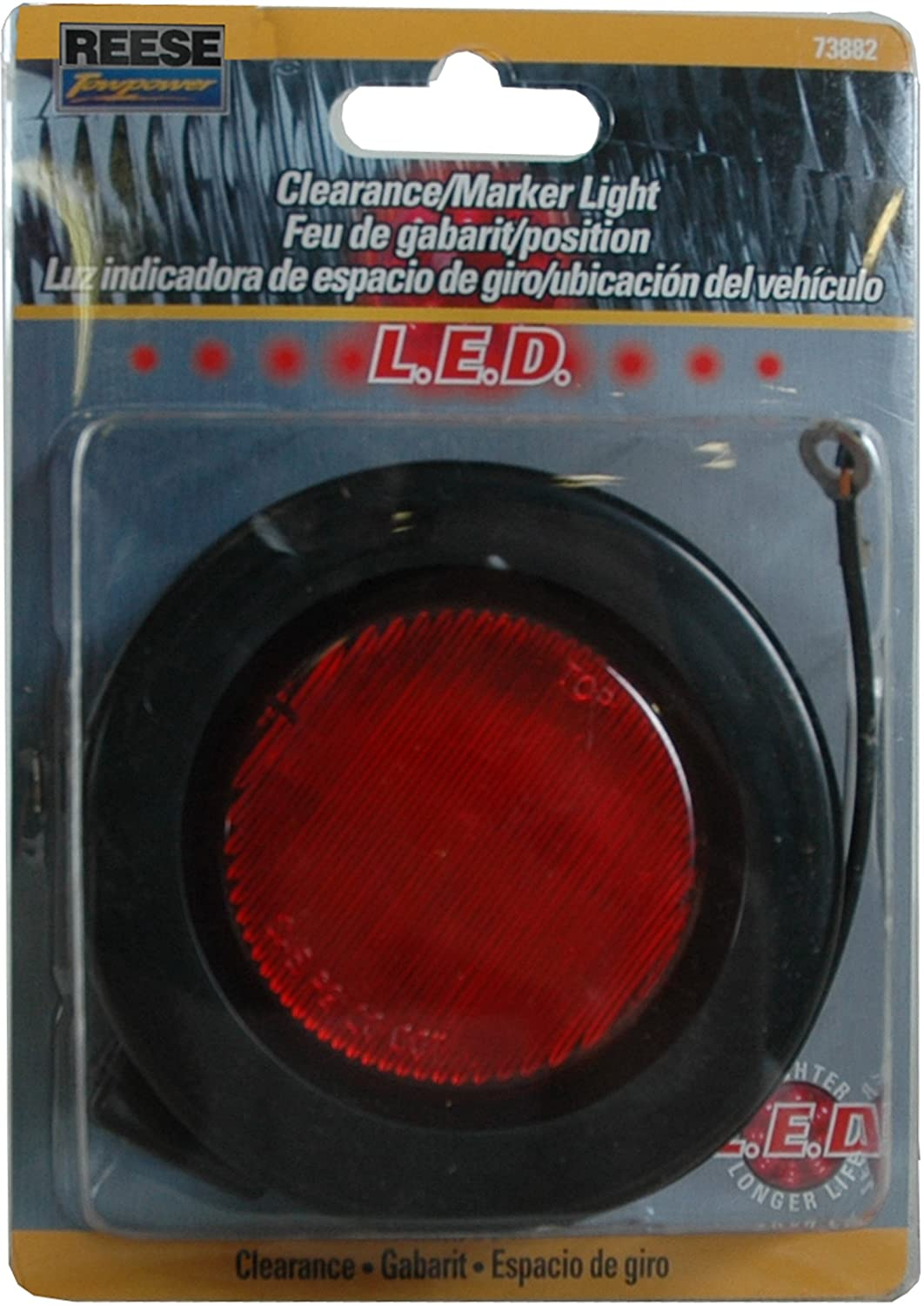 Reese Towpower 73881 Amber 2.5 LED Round Sealed Marker Clearance Light