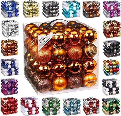 Christbaumkugeln Hersteller.64 Christbaumkugeln 6cm Kugelbox Kunststoff Bruchfest Dekokugeln Weihnachtskugeln Baumkugeln Baumschmuck Set Inge Glas Plastik Pvc 60mm