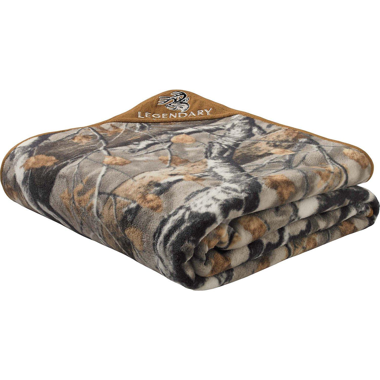 Legendary Whitetails Big Game Field Camo Fleece Blanket
