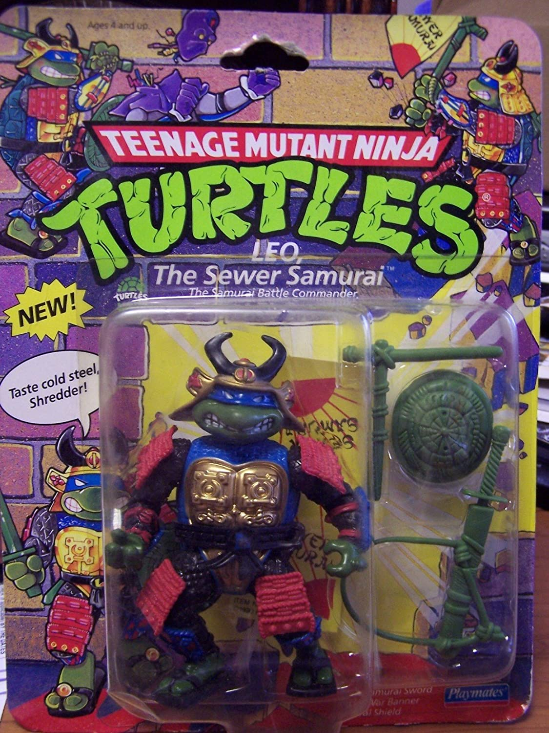 1990 Leo The Sewer Samurai Disguise Teenage Mutant Ninja ...