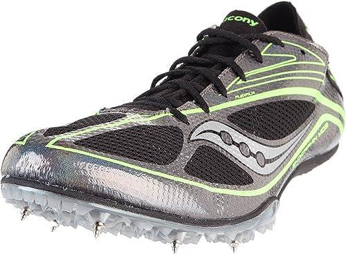 SAUCONY Endorphin Spike MD 3 Zapatilla Clavos Caballero, Negro/Verde, 45: Amazon.es: Zapatos y complementos