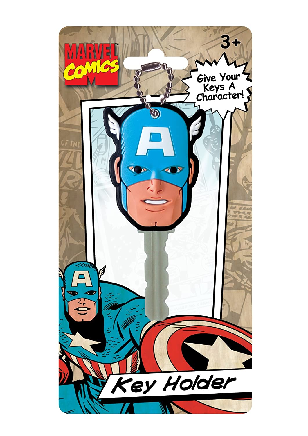 Marvel Captain America Face Soft Touch PVC Key Holder Monogram International 67474