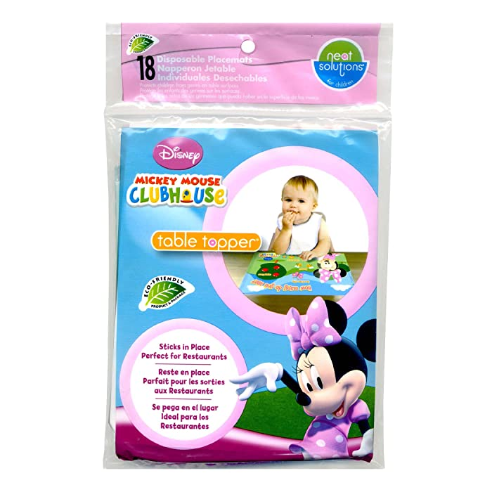 Neat Solutions Disney Minnie Mouse Table Topper Disposable Stick-on Placemats - 18 Count
