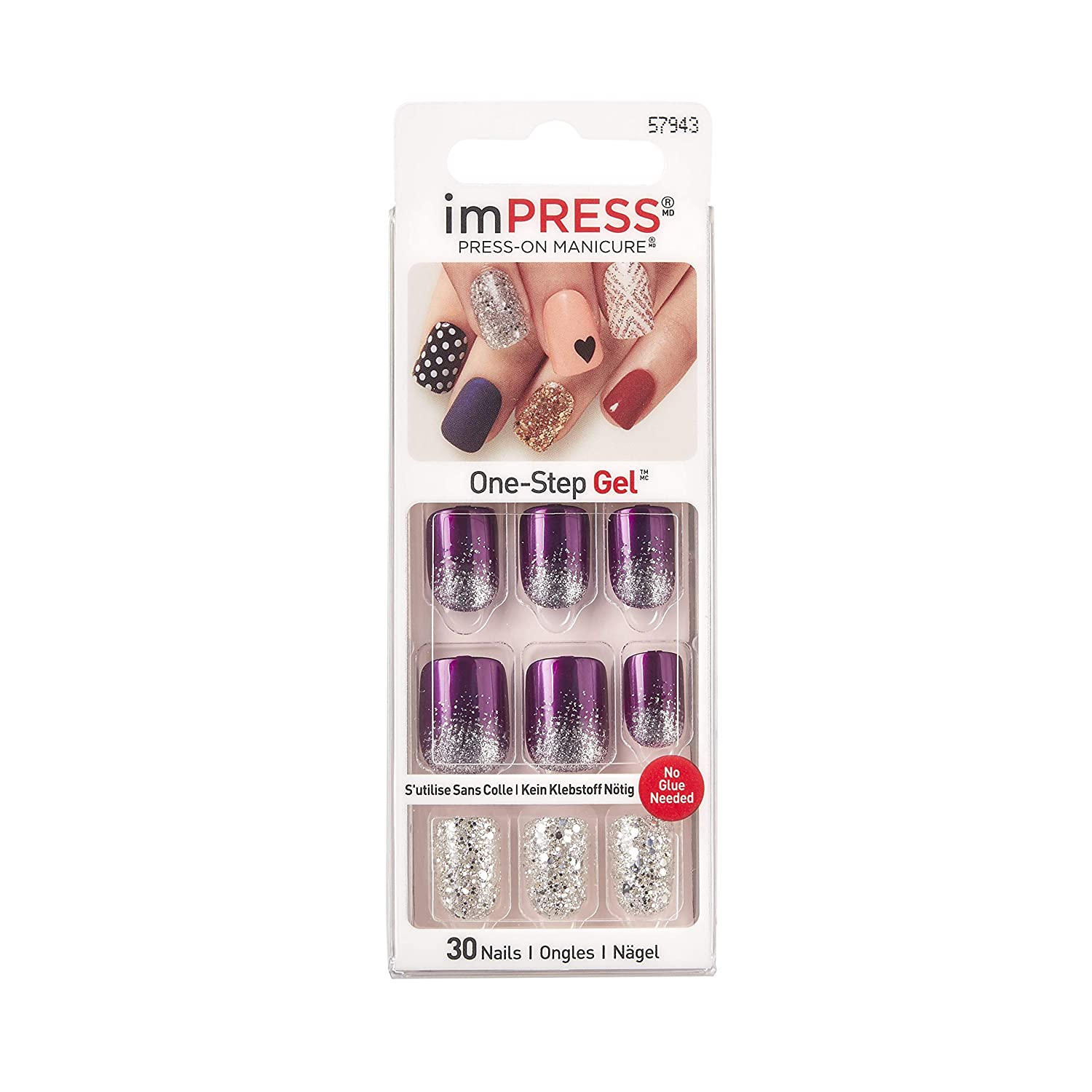 Broadway Nails Impress Night Fever, 1 Pack (1 x 24 Pieces) Kiss Products Inc BIPD051