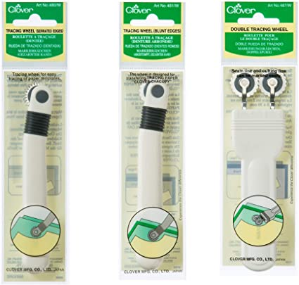 Clover 487W Double Tracing Wheel Serrated Edge