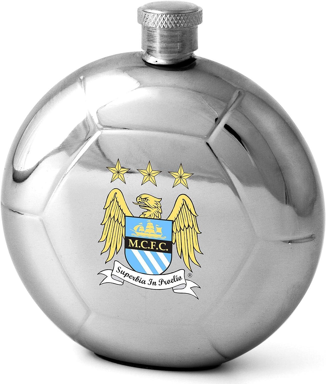 Manchester City F.C. - Petaca, 142 ml, diseño de balón de fútbol ...