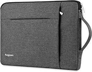 Kogzzen 15-16 Inch Laptop Sleeve Waterproof Shockproof Case Notebook Bag Compatible with MacBook Pro 16/15/ Surface Laptop 15/ Surface Book 2 15, Chromebook Dell HP Lenovo Asus Acer Samsung - Gray