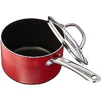 Farberware Buena Cocina Nonstick Sauce Pan/Saucepan with Lid, 3 Quart, Red
