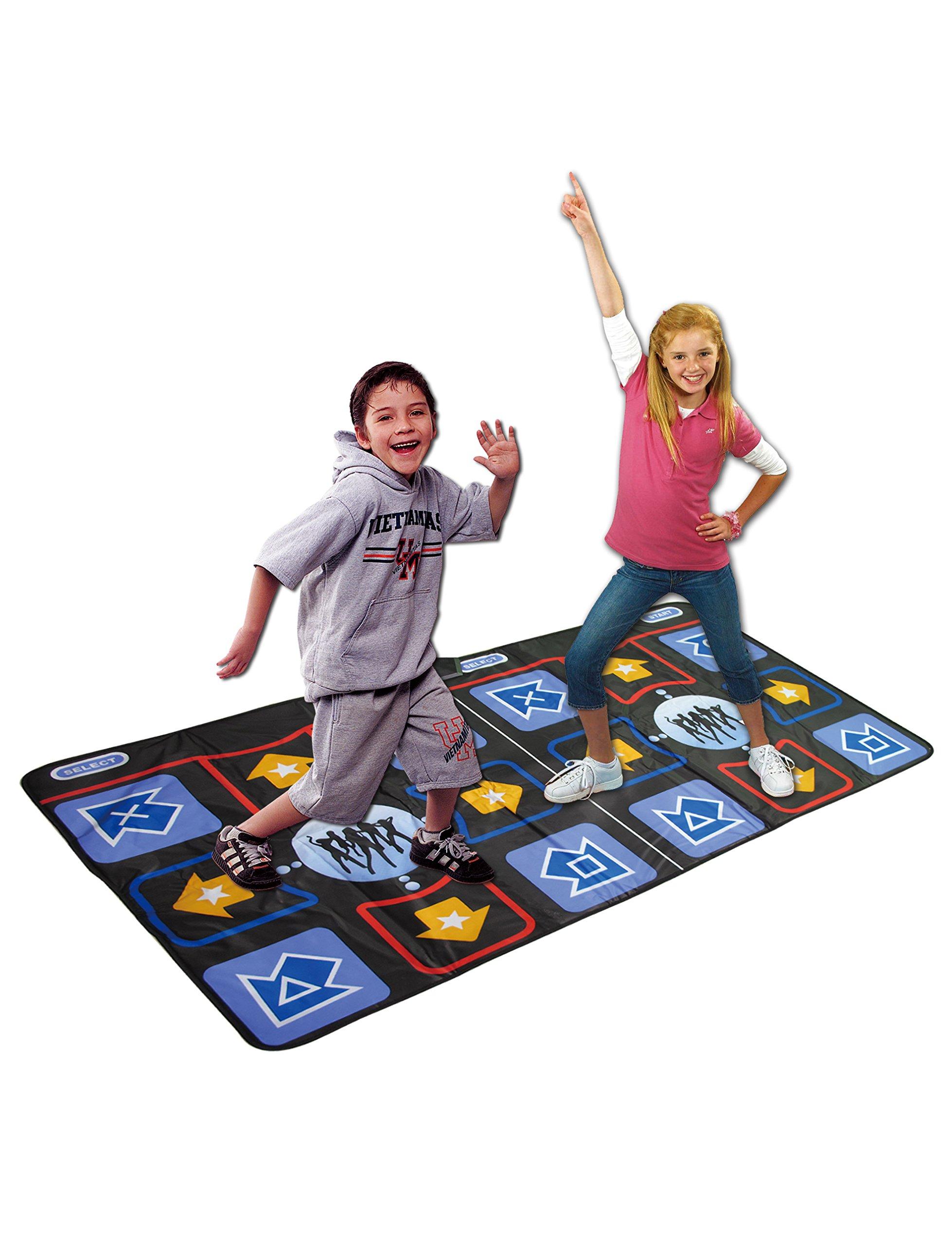 WOLSEN Non-slip & Non-toxic Durable Dual Playing TV Dance Mat with high-elastic EVA foaming technics & 218 SONGS Showdown Plug N' Play Mat for TV