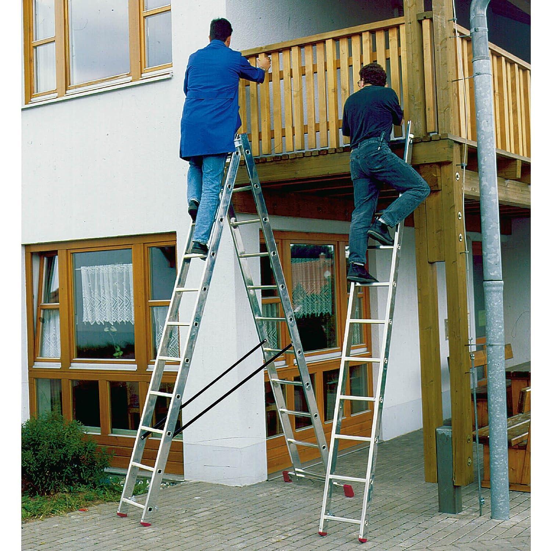 LALG422 Escalera para Desniveles, 3 X 11 Peldaños: Amazon.es: Industria, empresas y ciencia