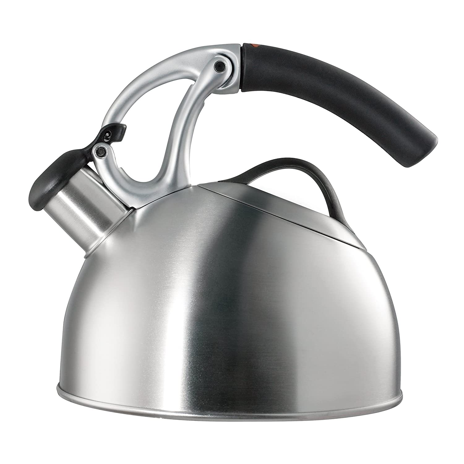 Modern stainless tea kettle. Shop my kitchen and find a helpful resource Guide For a Decidedly Simple Serene Grey Kitchen in Arizona!