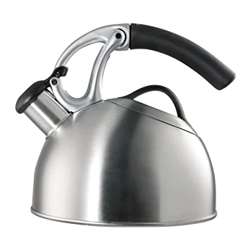 OXO Good Grips Uplift Teakettle, Brushed Stainless Steel Kettles at amazon