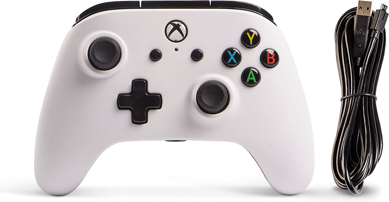 Amazon.com: PowerA Enhanced Wired Controller for Xbox One - White ...