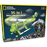 NATIONAL GEOGRAPHIC Mega Construction Engineering Set - Build 35 Unique Motorized Models: Helicopters, Cars, Animals and More - STEM Learning