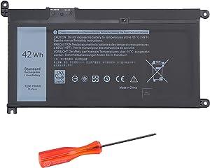 BURFLO YRDD6 Battery for Dell Inspiron 14 15 17 3493 3583 3593 3793 5481 5485 5491 5584 5593 Latitude 3310 Vostro 5590 2-in-1