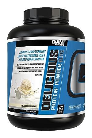 Giant Sports Delicious Elite Powder, Vanilla, 5 Pound