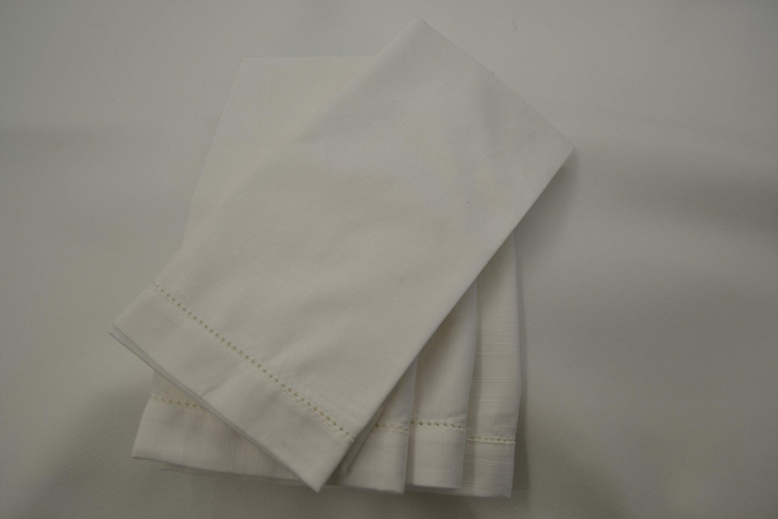 Hemstitch Dinner Napkins White 1 Dozen by Something Different Linen by Something Different Linen (Image #6)
