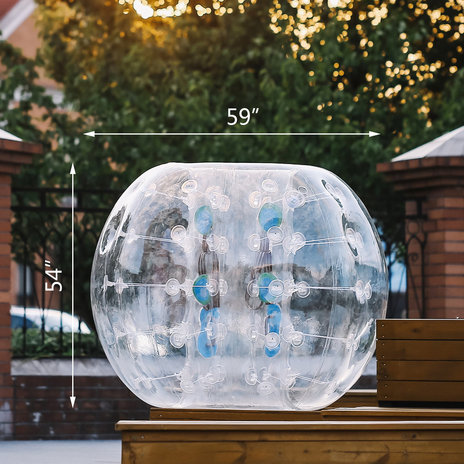 Happybuy Inflatable Bumper Ball 1.2M/4ft 1.5M/5ft Diameter Bubble Soccer Ball Blow Up Toy in 5 Min Inflatable Bumper Bubble Balls for Adults or Child (5ft) by Happybuy (Image #3)