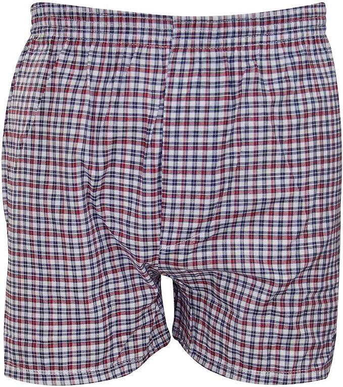 Pack de 6 calzoncillos boxer para hombre, de algodón y poliéster, con estampado de cuadros Surtido XXL: Amazon.es: Ropa y accesorios