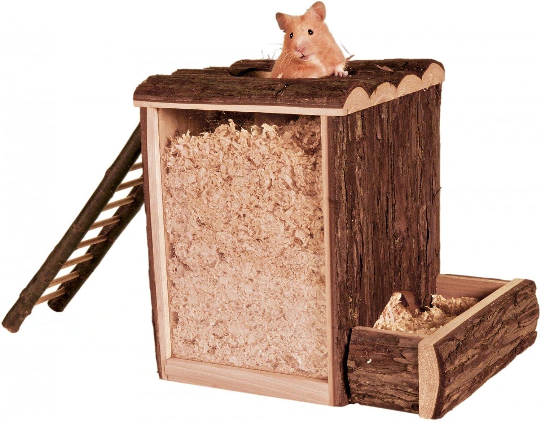 TRIXIE Torre Laberinto Roedor, Natural Living, 25 × 24 × 20 cm, Pequeños Mamíferos: Amazon.es: Productos para mascotas