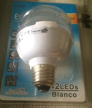 Lámpara 42 LEDs - Casquillo grueso - 3 Watt