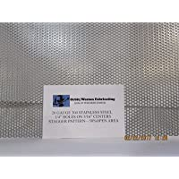 """20 GAUGE 3//32/"""" HOLE ON 5//32/"""" CENTER PERFORATED 304 STAINLESS SHEET----12/"""" X 12/"""""""