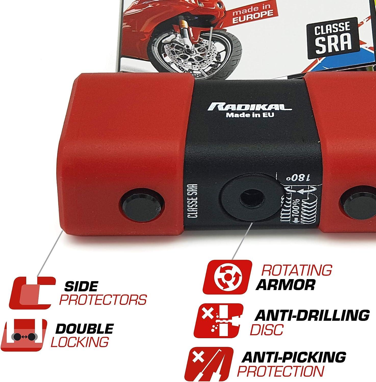 Radikal Rk75 Diebstahlsicherung Hohe Sicherheit Geprüft 150 Rot Auto