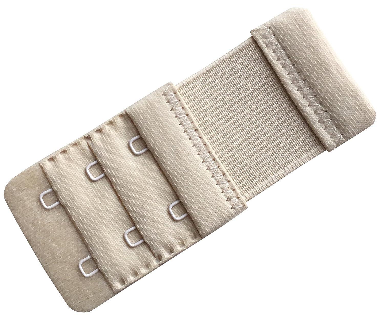 Chanie Damen Packung mit 3 Weich Komfortabel Erweiterung 2 Haken BH-Verl/ängerer 9,2cm x 3,8cm