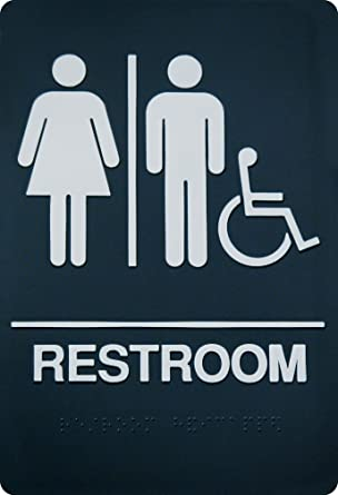 Amazon.com: Braille Unisex Restroom Sign – Ada Aprobado ...