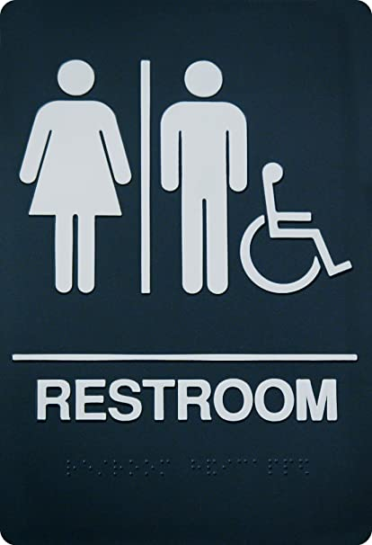 Amazon Unisex Braille Restroom Sign ADA Approved Bathroom Amazing Unisex Bathroom Signs
