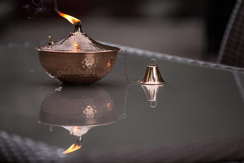 Patio Light Legends Direct Maui Tabletop Landscape Torch Lighting Smooth Nickel Tabletop Lantern