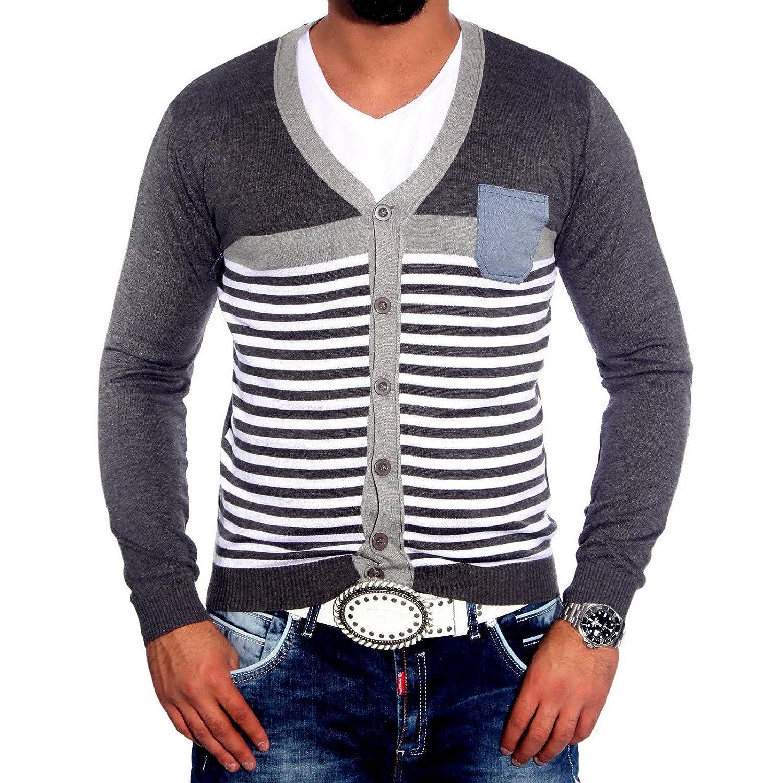 Rusty Neal 3192 Herren Pullover V-Neck Strickjacke Pulli Sweatshirt Jacke  Hoodie: Amazon.de: Bekleidung