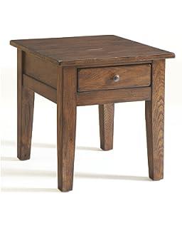 Bon Broyhill Attic End Table, Rustic Oak
