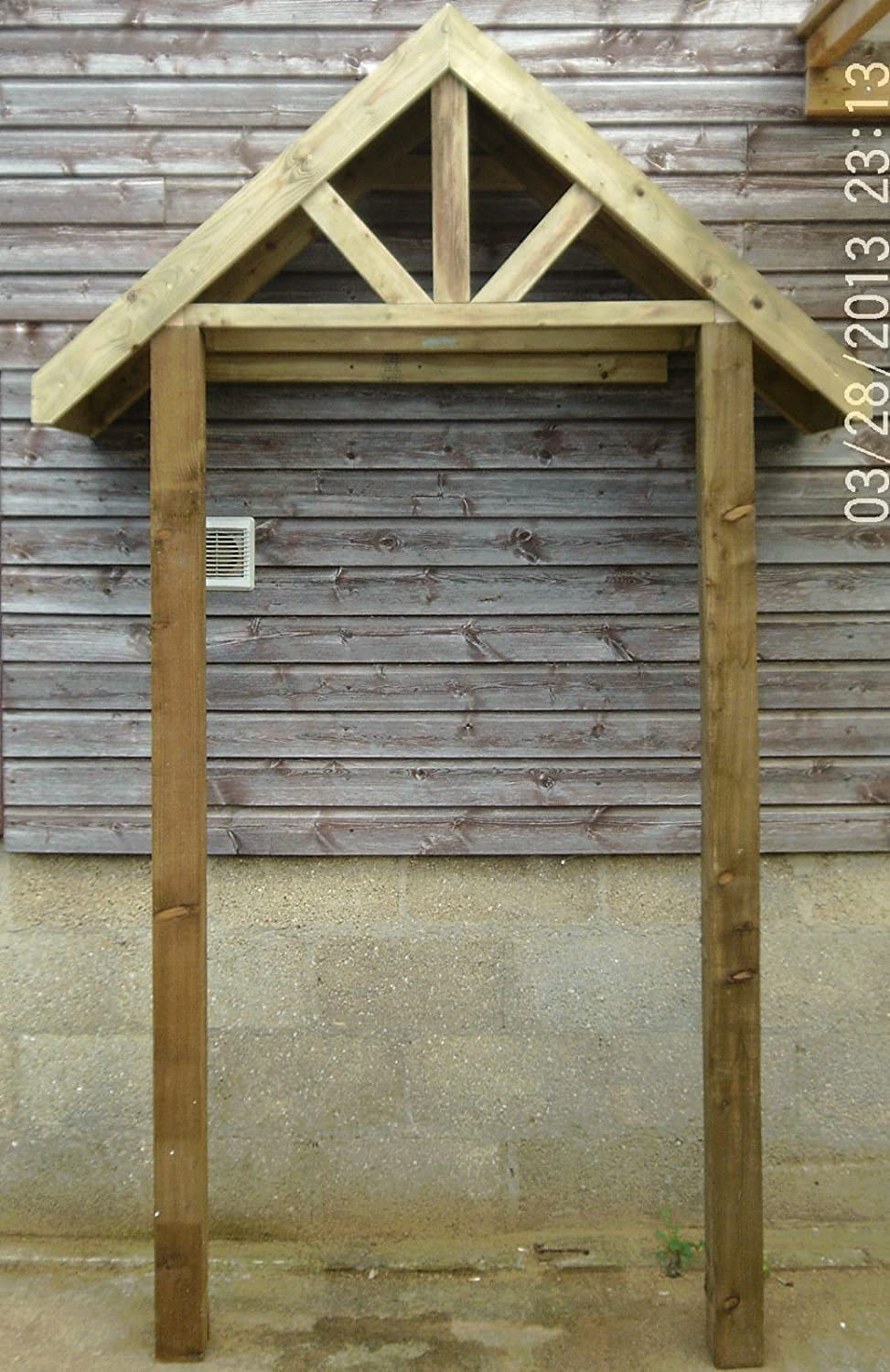 & Wooden Porch Canopy \u0026 Stilts: Amazon.co.uk: Garden \u0026 Outdoors