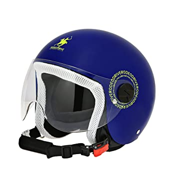 Scotland Casco Demi Jet de niño, Blue Royal, Talla L