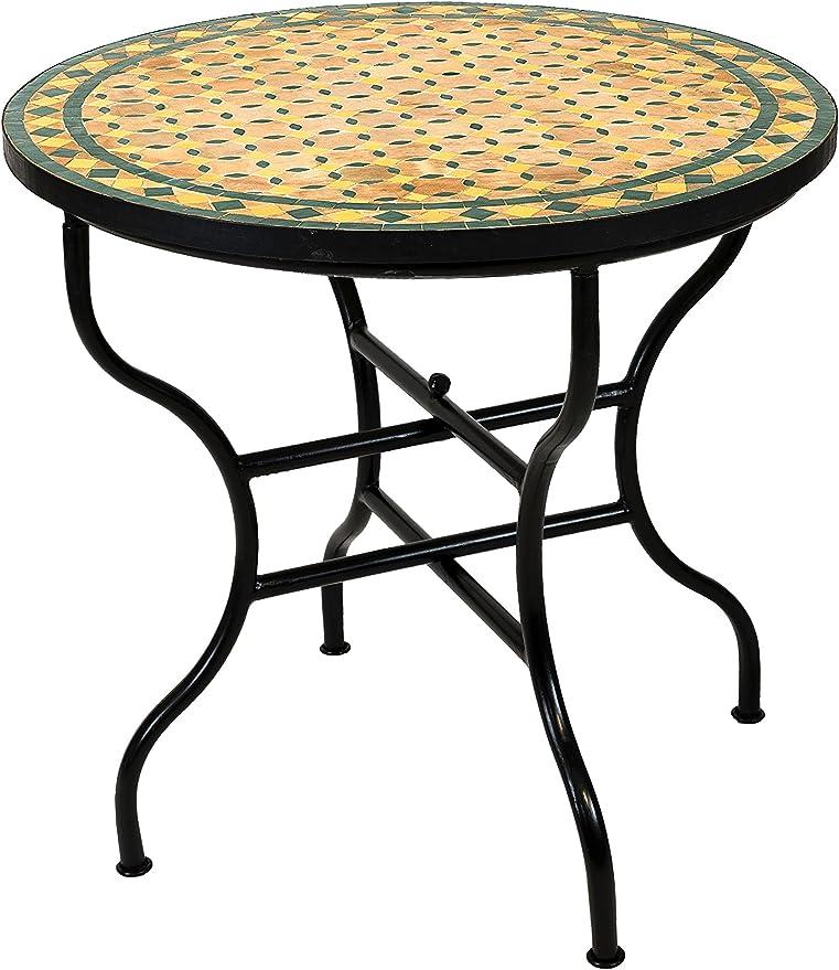 Tavolo Rotondo Pieghevole Giardino.Originale Mosaico Marocchino Tavolo Da Giardino O 80 Cm Grande
