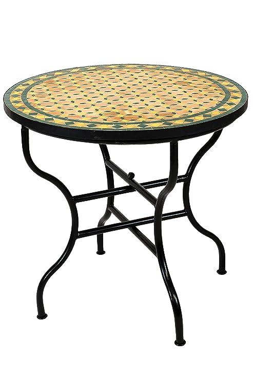 Tavolo Da Giardino Rotondo Pieghevole.Originale Mosaico Marocchino Tavolo Da Giardino O 80 Cm Grande