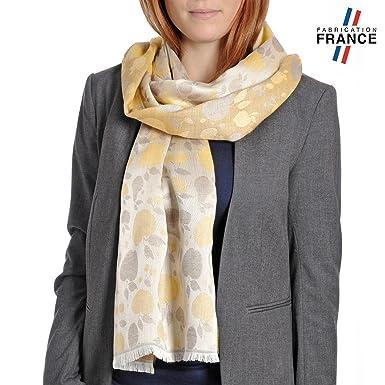 dd6e6dd9c727 Qualicoq Echarpe légère Mirepoix 7 coloris - Couleur - Jaune - Fabriqué en  France