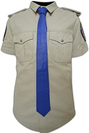 Handcrafted Genuine Lamb Leather Black Men/'s Classic Uniform Necktie Adjustable