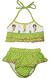 ae5c8ac208f4e Amazon.com: Babeeni Boutique Little Girls Toddler Smocked Mermaid 2 ...