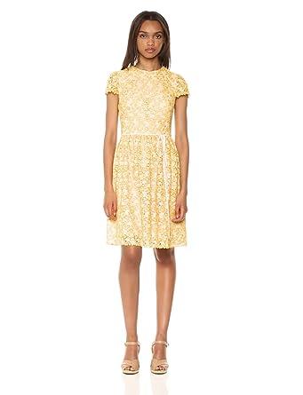 61d5ad4d04d ML Monique Lhuillier Women s Bi-Colored Lace Dress at Amazon Women s ...