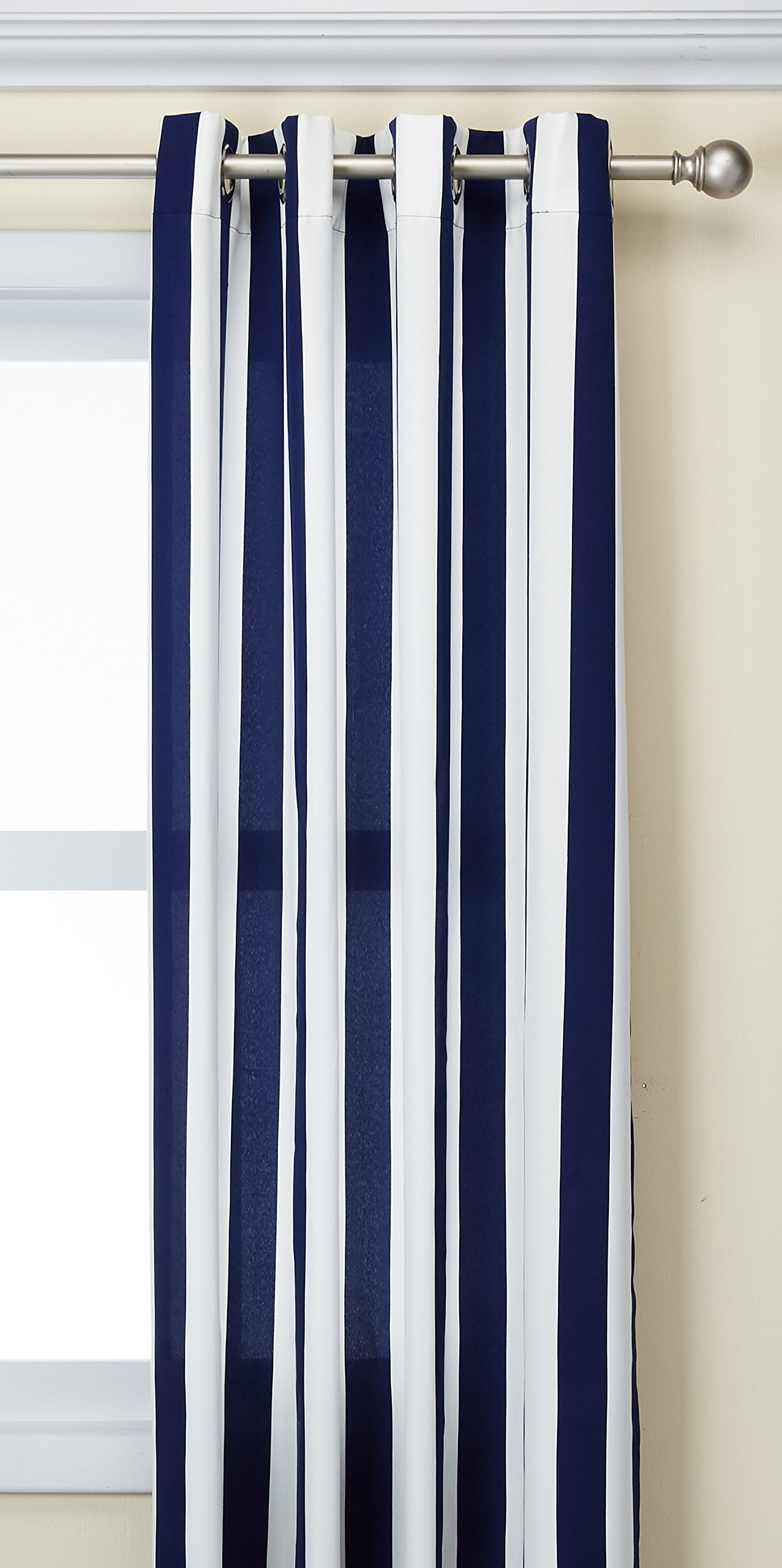 Outdoor Decor Coastal Stripe 96 Cabana Panel, Navy