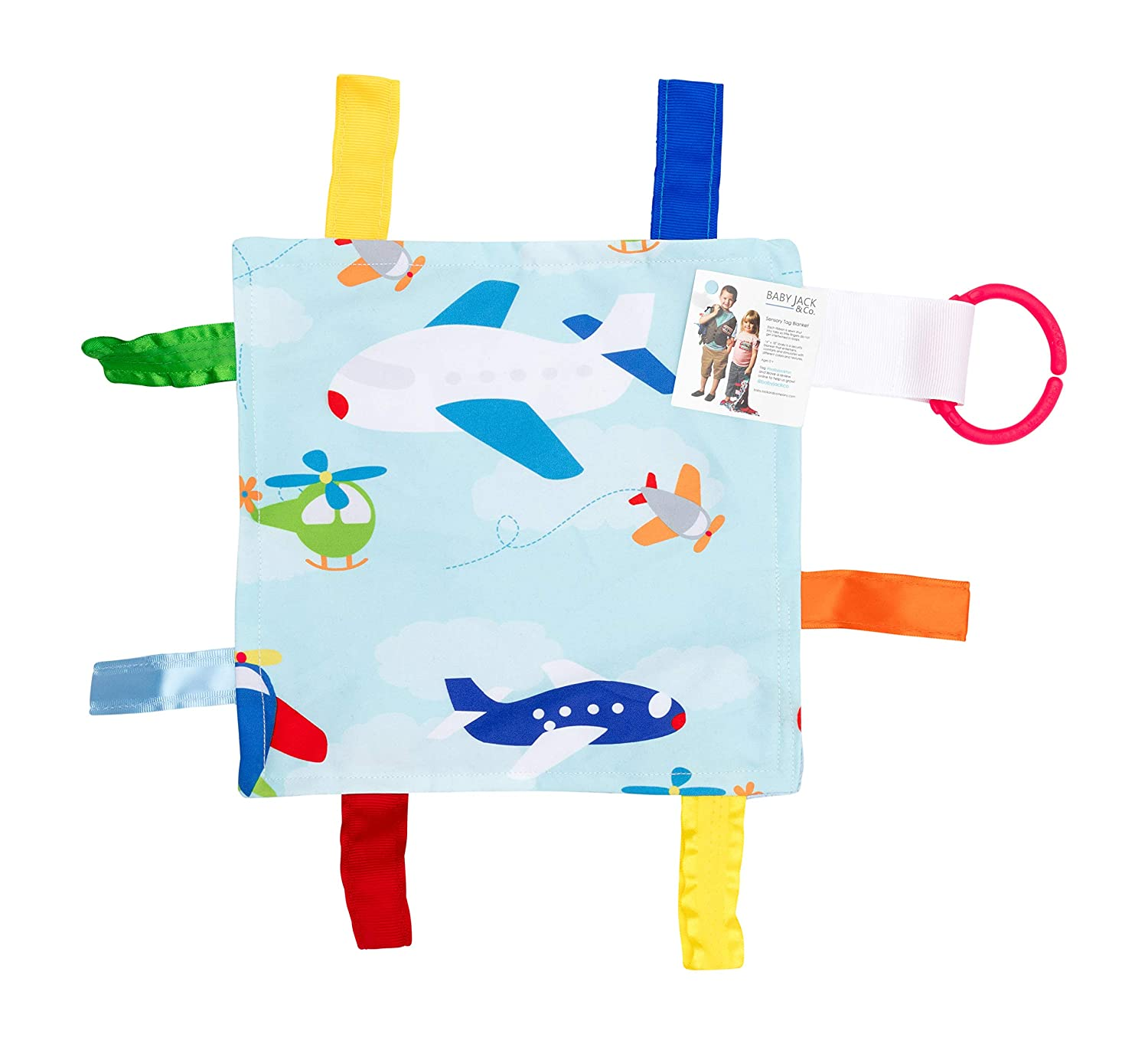 Comfort and Sensory Play by Baby Jack For Entertainment Lovey Football Blanket